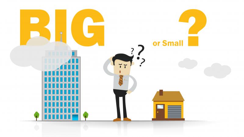 Smaller insurance companies vs. larger insurance companies